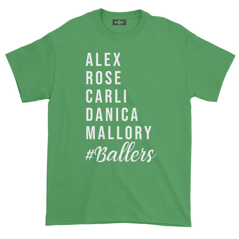 Alex Rose Carli Danica Mallory Baller National Soccer Team Champion T-Shirt