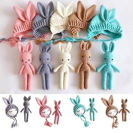 iumer fotografía disfraz regalo conejo de Cute Crochet de Punto ...