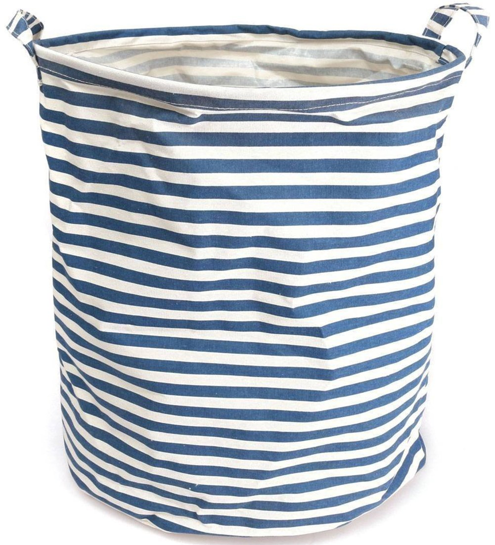 Amazon.com: NKTM Collapsible Cylindric Laundry Storage Bucket Basket ...