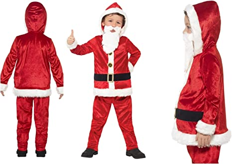 Fancy Dress World - Disfraz de Papá Noel para niños y niñas, con ...