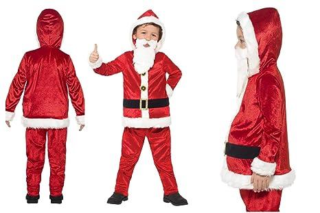 Fancy Dress World - Disfraz de Papá Noel para niños y niñas ...