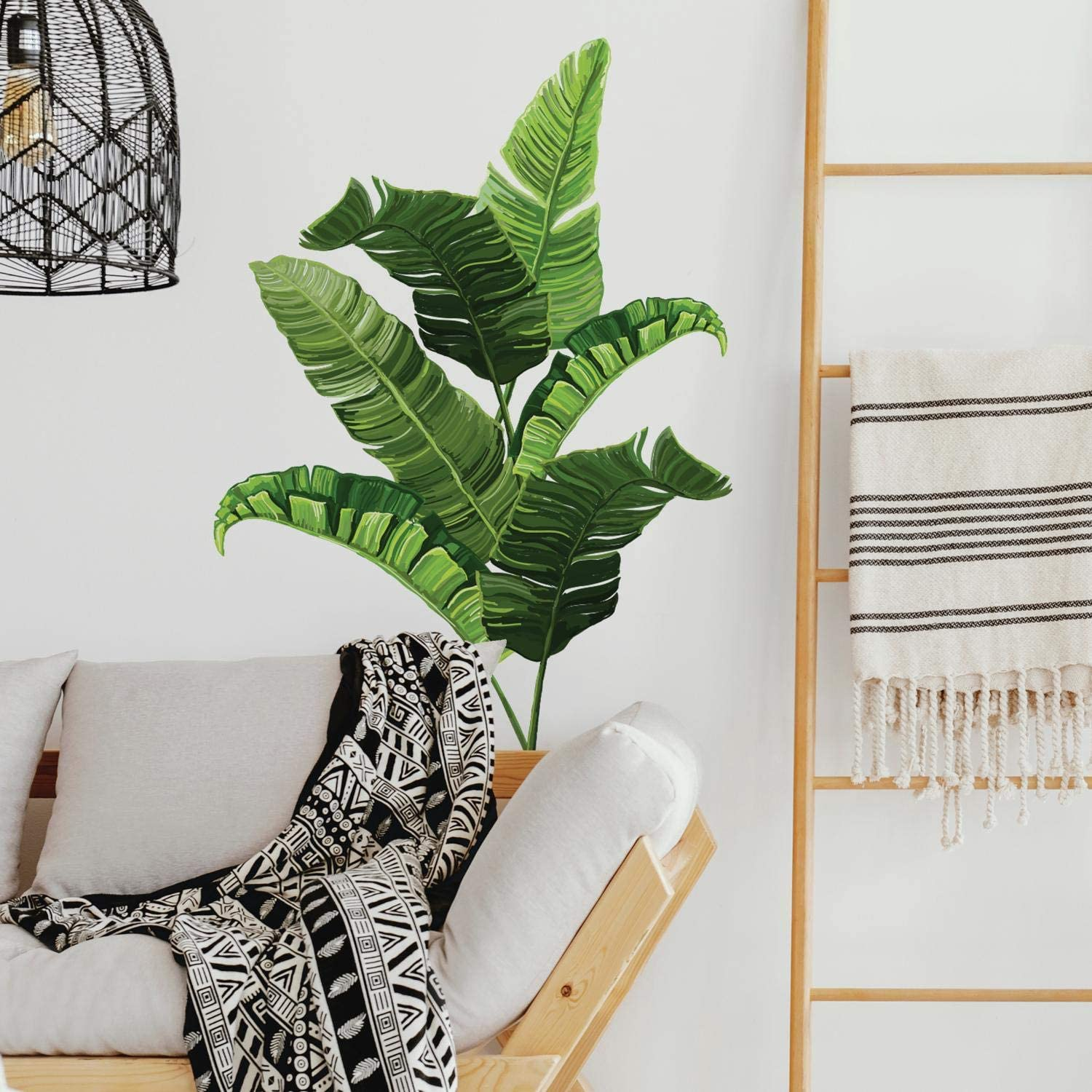 RoomMates Banana Leaf Peel And Stick Giant Wall Decals