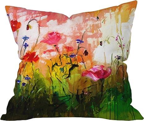 Amazon Com Deny Designs Ginette Fine Art Jardin Rose Throw Pillow 26 X 26 Home Kitchen