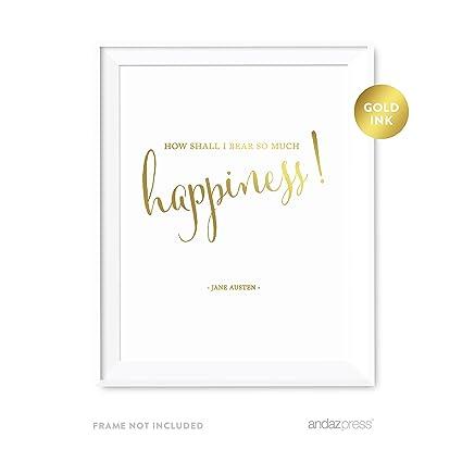 Amazon Com Andaz Press Wedding Love Quote Wall Art Metallic Gold