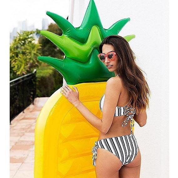 Amazon.com: Giant Pineapple Pool Party Float Raft, niceEshop ...