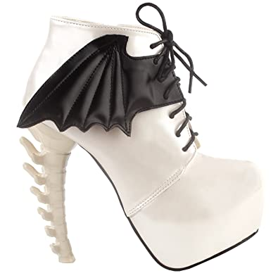 e7ea975baa0 Show Story Beige Punk Design High Heels Women s High-Top Bone High Heel Platform  Ankle