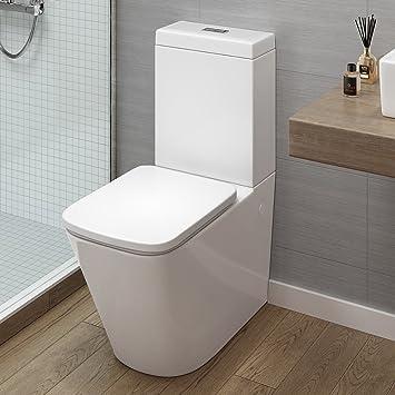 Attirant IBathUK Modern Bathroom White Gloss Close Coupled Toilet Cistern Pan +  Seat: IBathUK: Amazon.co.uk: Kitchen U0026 Home