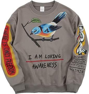 Kanye I Am Loving Awareness Sweatshirt Graffiti Letter Print Sweatshirts Hip hop CrewNeck Pullover Hoodie