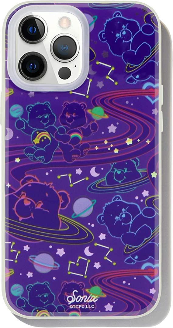 Sonix Sweet Dreams Glow in The Dark Case for iPhone 12ProMax [10ft Drop Tested] Protective Care Bears Clear Cover for Apple iPhone 12 Pro Max