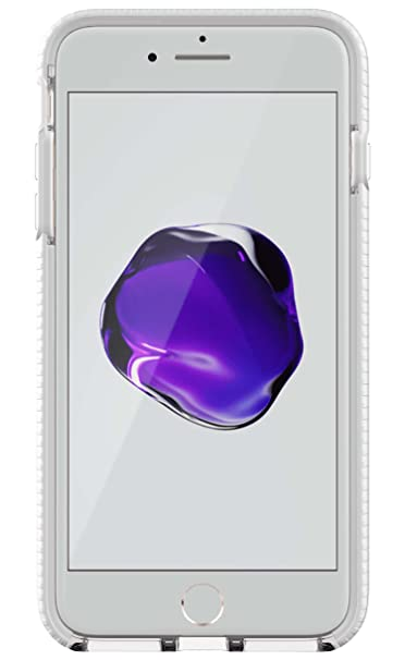 best service a2f25 8032a Tech21 Evo Mesh Case for iPhone 7+/8+ Clear/White