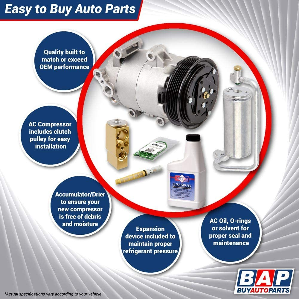 BuyAutoParts 60-80448RK New For Jeep Grand Cherokee /& Commander AC Compressor w//A//C Repair Kit