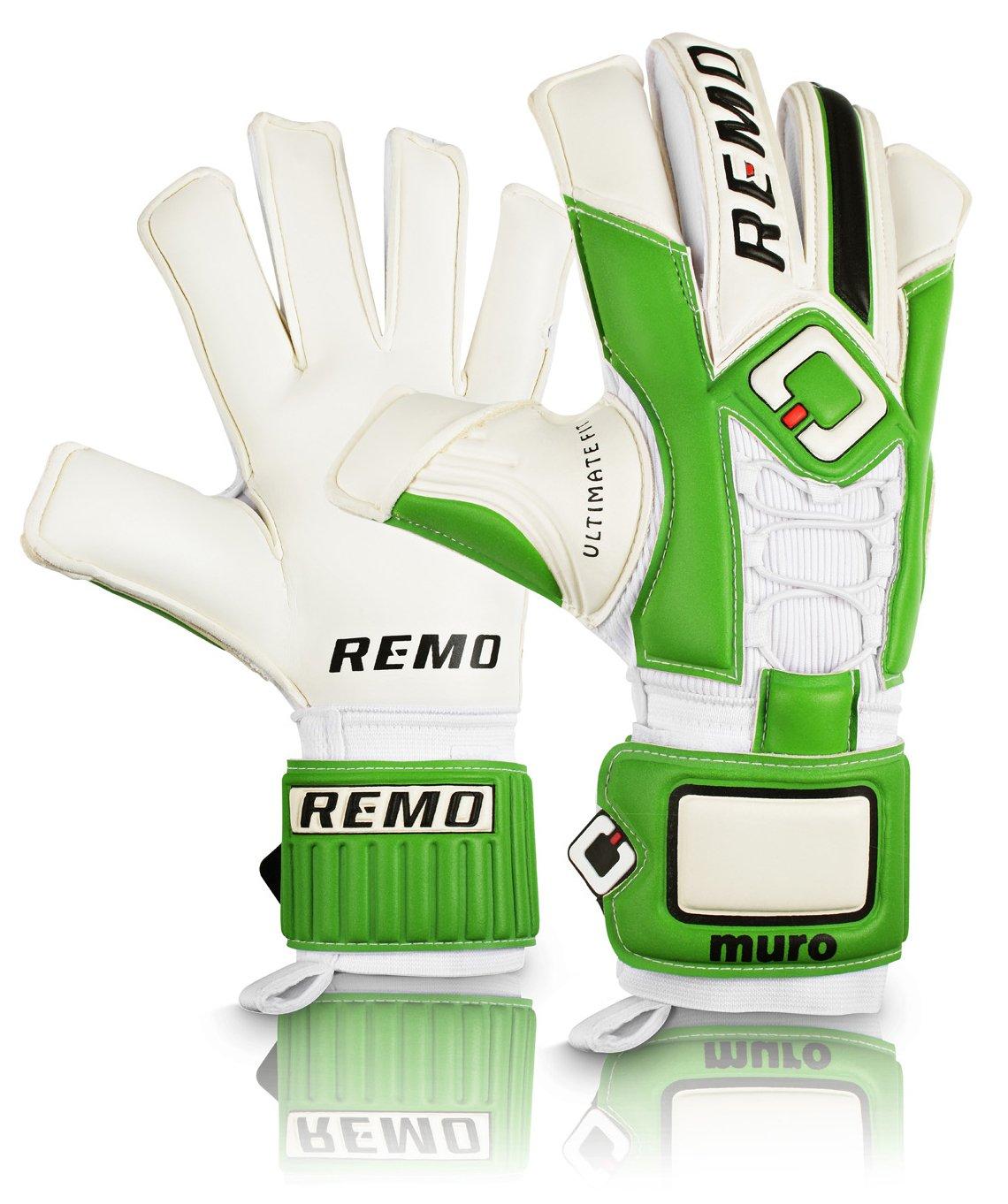 REMO Sports Muro Latex Torwarthandschuhe Flat Cut Schn/ürsystem gr/ün