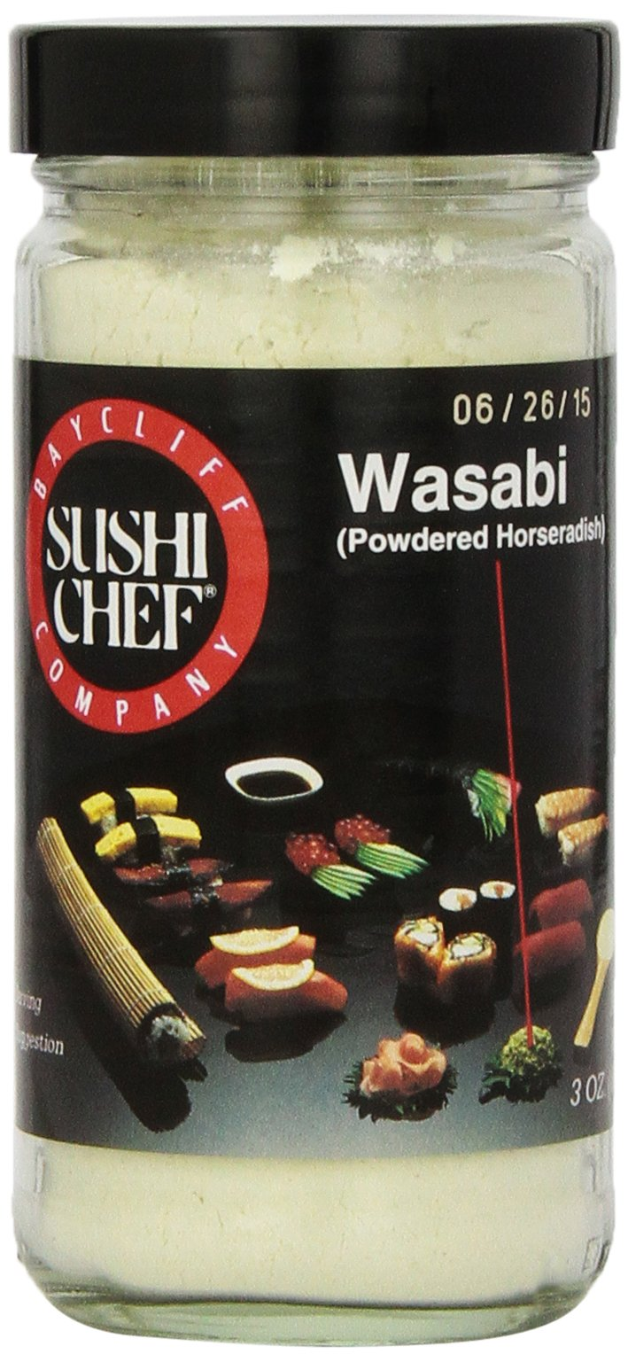 Sushi Chef Wasabi (Powdered Horseradish), 3-Ounce Glass Jars (Pack of 3)