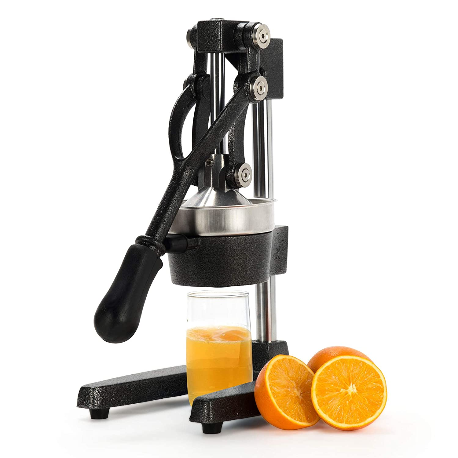 CO-Z Commercial Grade Citrus Juicer Hand Press Manual Fruit Juicer Juice Squeezer Citrus Orange Lemon Pomegranate (Black)