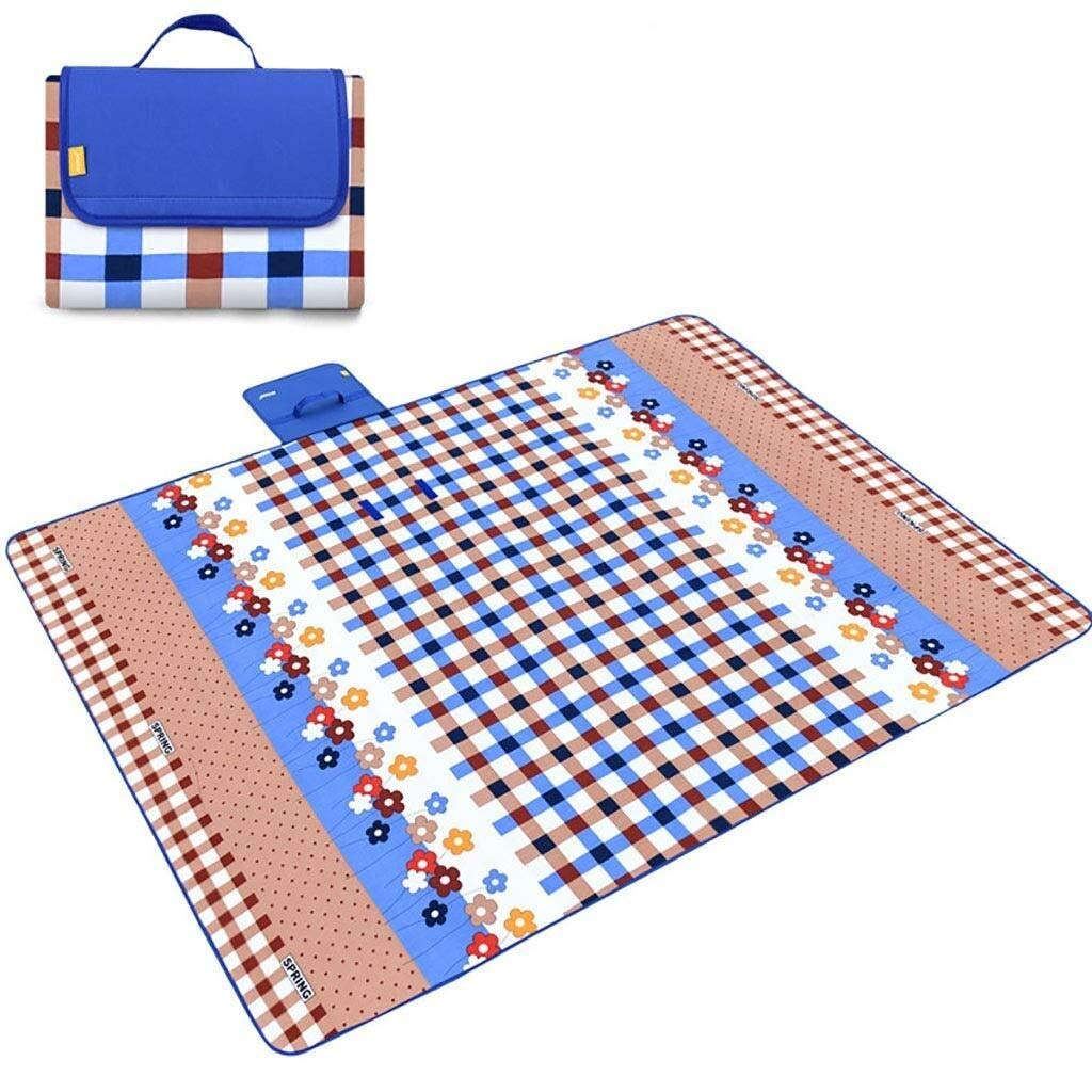 ZKKWLL Picnic Blanket Large Outdoor Picnic Blanket Foldable Beach mat Picnic Blanket Waterproof sandproof Outdoor Picnic Carpet mat with Handle Camping Picnic mat (Color : B) by ZKKWLL