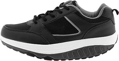 Mapleaf Basculan Eglemtek® TM - Zapatillas tonificantes para hombre, negro, gris oscuro, 40: Amazon.es: Zapatos y complementos