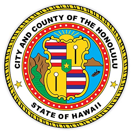 Honolulu city and county seal hawaii sticker decal 4