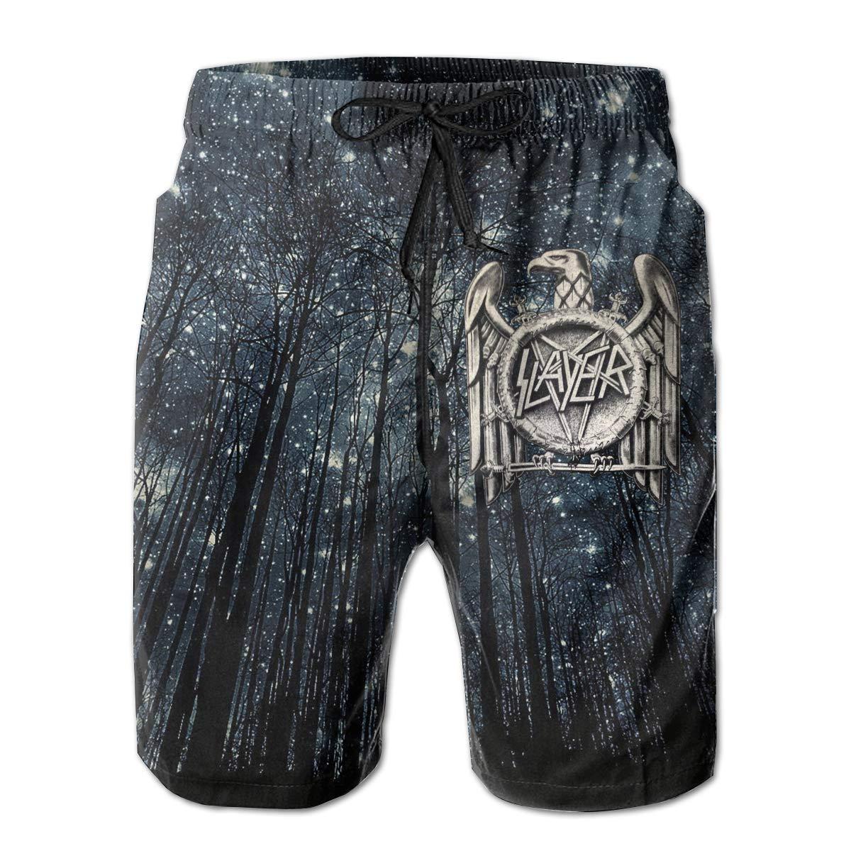 Slayer Band Man Summer Casual Shorts,Beach Shorts Quick Dry Short