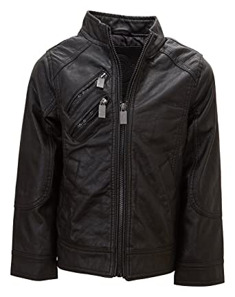 Image Unavailable. Image not available for. Color  Urban Republic Boys Faux  Leather Jacket Cool Motorcycle ... 2765f2b063