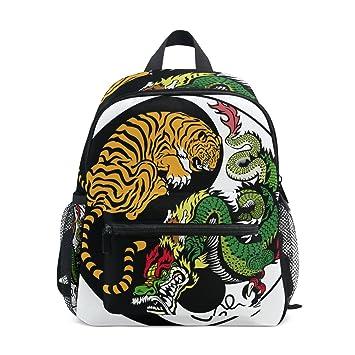 COOSUN Yin Yang Dragón y Tigre Kinder Símbolo Mini Mochila Kids Pre-School Bolsa Niño: Amazon.es: Equipaje