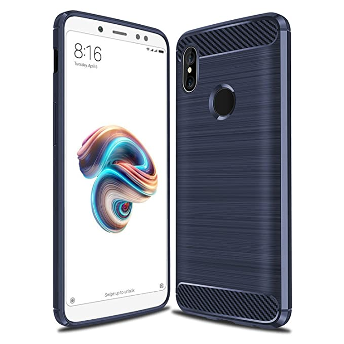 UMIPUBO Funda Xiaomi Redmi Note 5/A2, Case Cover Xiaomi Redmi Note5/A2 Silicona Flexible Carcasa Xiaomi Redmi Note 5/A2 Fibra de Carbono Funda Case
