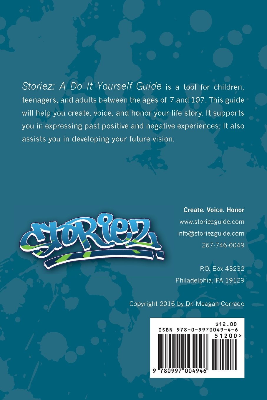 Storiez A Do It Yourself Guide Meagan Corrado 9780997004946 Learn More At Help Com Books