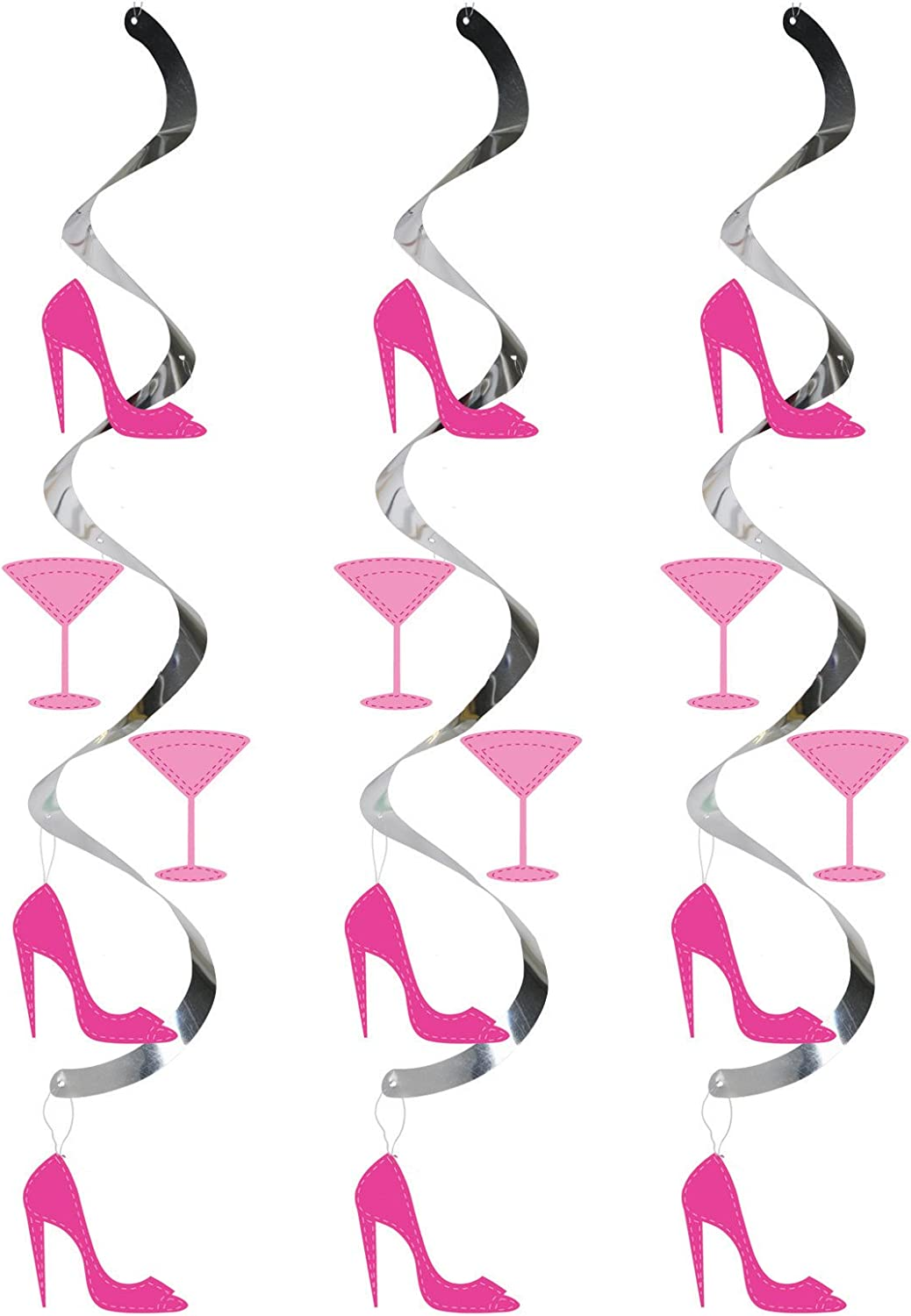 Martini Glass and High Heels Creative Converting 30-Count Dizzy Danglers Hanging Party D/écor