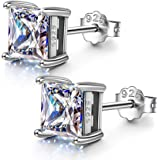 925 Sterling Silver Stud Earrings, Sparkly Zirconia from Swarovski, Christmas Earrings for Women Girls Christmas Jewelry…