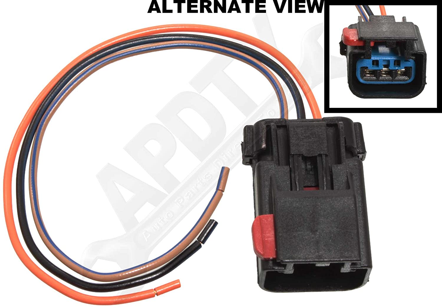Apdty 756298 Wiring Harness Pigtail Connector 3 Wire 1941 Cadillac Direct Fit Cam Crank Sensor Power Window High Low Horn Wiper Hvac Ac Heat Auto Temp Control