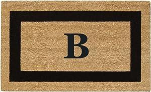 "Nedia Home Monogrammed B Superscraper Single Picture Frame, 20"" x 36"", Black"