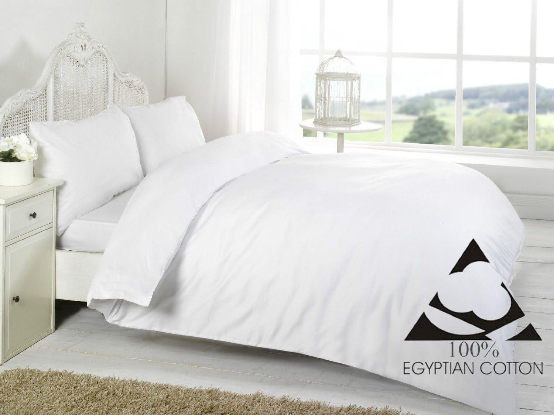 Linen Zone - Sábana de algodón egipcio, 400 hilos, 100% algodón egipcio/algodón/algodón egipcio/lino, Blanco, Sábana encimera para cama doble