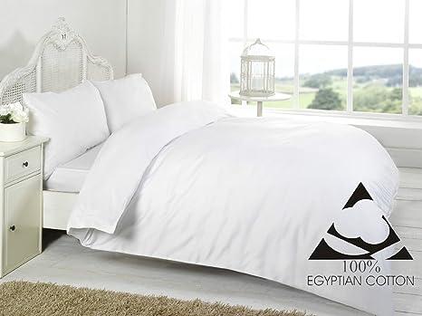 Linen Zone - Sábana de algodón egipcio, 400 hilos, 100% algodón egipcio/ algodón/algodón egipcio/lino, Blanco, Sábana encimera para cama doble: Amazon.es: Hogar