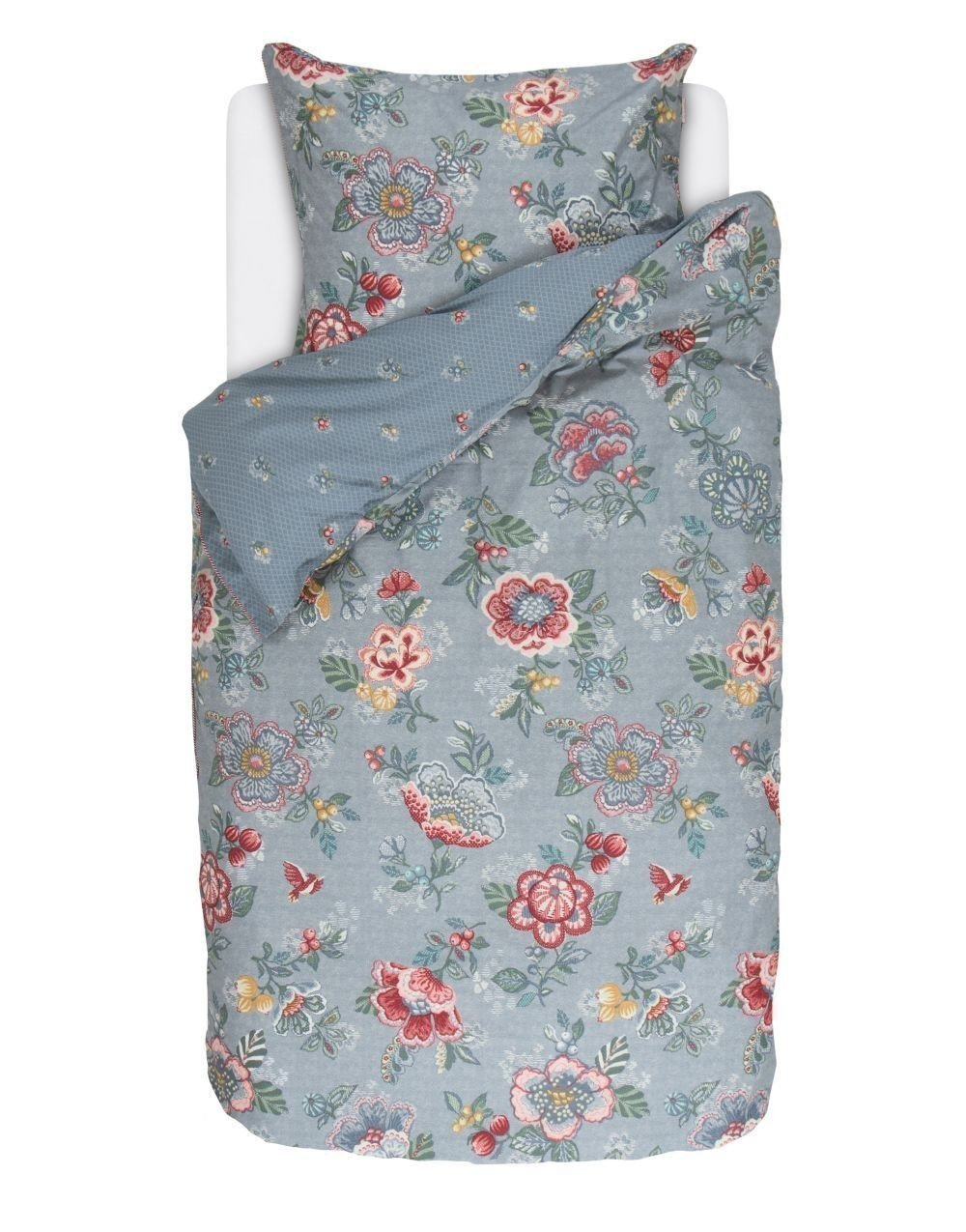 PiP Studio Bettwäsche Berry Bird   blau - 155 x 220