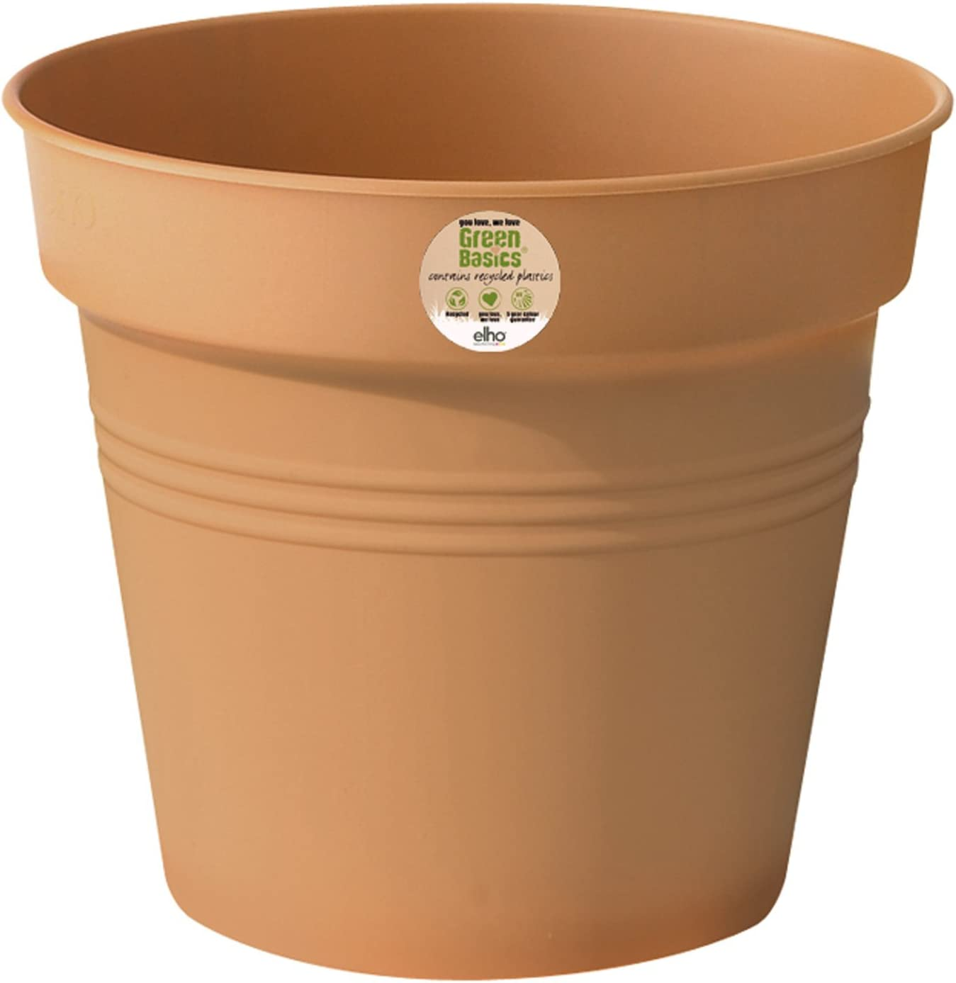 /Ø 19 x A 17.5 cm Elho Green Basics Growpot 19 Growpot Mild Terra Interior /& Exterior