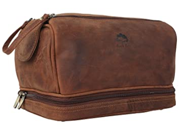 Image Unavailable. Image not available for. Color  Genuine Leather Travel  Toiletry Bag - Dopp Kit Organizer ... 16e978142e81e