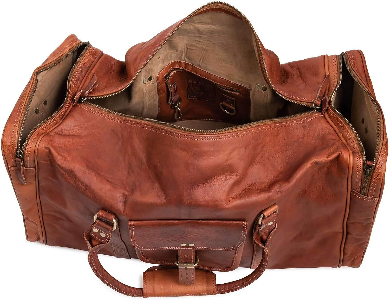 Berliner Bags New York XXL Sac de voyage en cuir Bagage /à main sport week-end Femmes Hommes Vintage Marron Large
