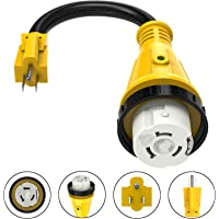 $23 » Kohree 15 Amp to 50 Amp RV Power Cord Plug Adapter Dogbone Heavy Duty Electrical Power…