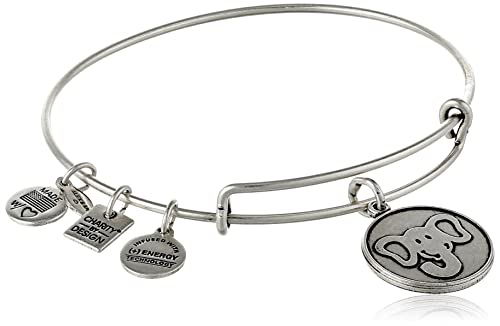 """Alex and Ani """"Charity By Design"""" The Elephant Expandable Wire Bangle Bracelet, 7.75"""""""