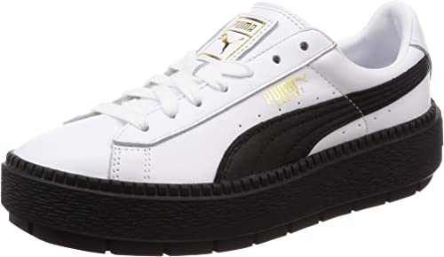 PUMA Basket Platform Trace Leather Damen Sneaker Puma White Puma Black 5