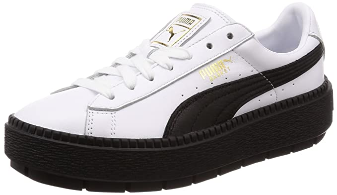 ed009fcc5 Puma Donna, Basket Platform Trace Wmns, Pelle, Sneakers, Bianco: Amazon.it:  Scarpe e borse