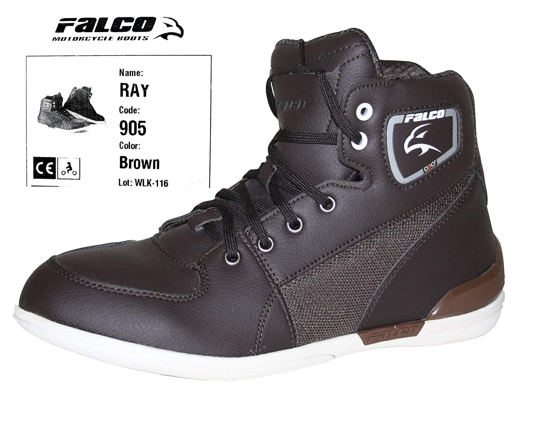 Falco Ray Motorrad Schuhe Herren Kurzstiefel Stiefel Stiefeletten Sneaker braun 43 EU