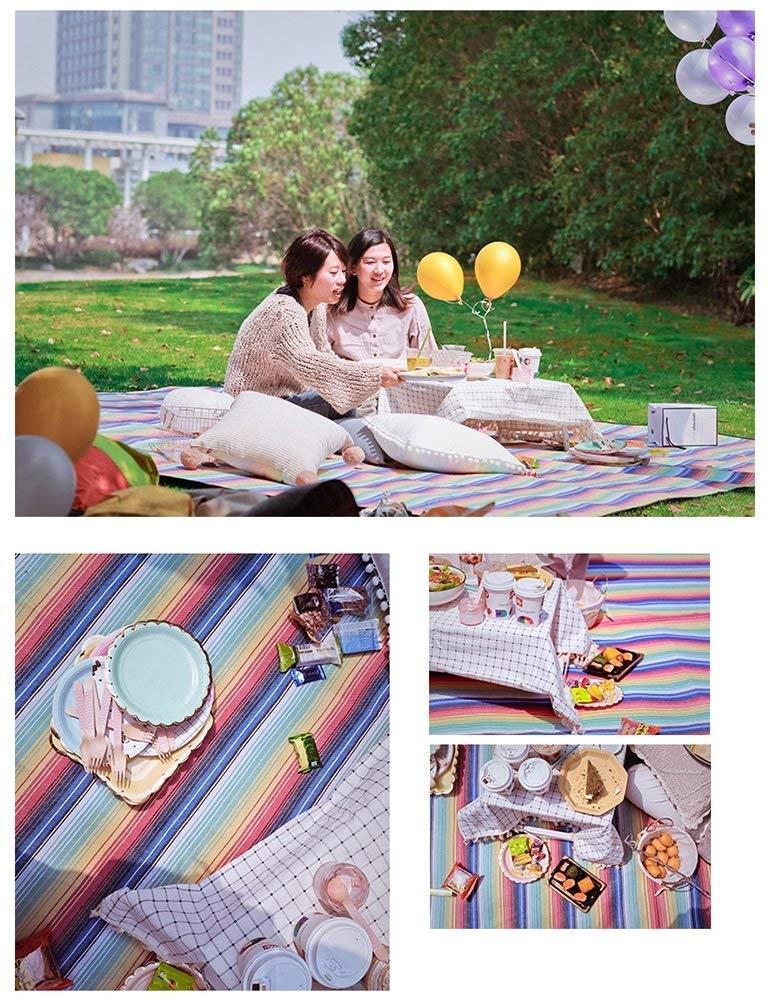 AXCJ Campingdecke verdicken Picknick-Matte Feuchtigkeitsschutz im Freien Teppich Großraum Zelt Multiplayer Acryl Peva 250 300