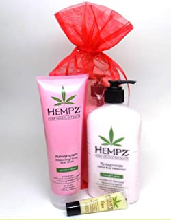 product image for Hempz 3 Piece POMEGRANATE BATH & BODY GIFT SET with Mesh Gift Bag
