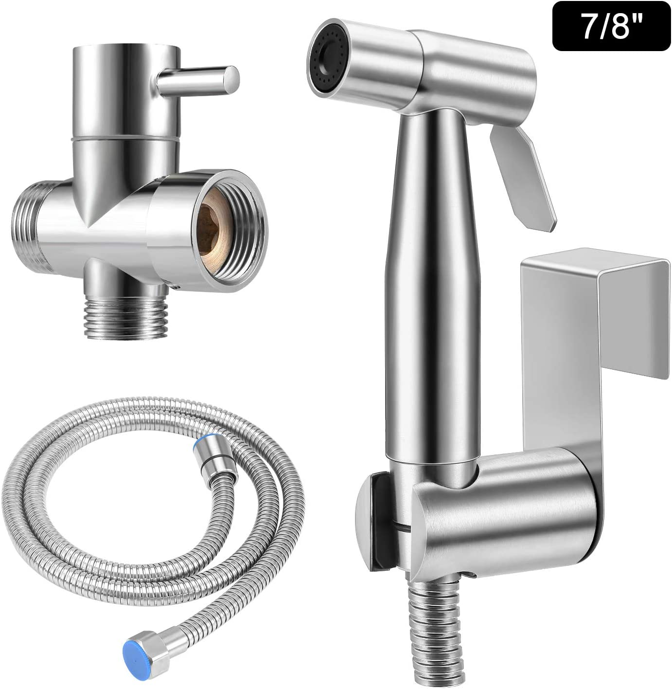 Amazon Com Bidet Sprayer For Toilet Nacot Handheld Baby Cloth Diaper Sprayer With Anti Leaking Hose For Women Baby And Pets Bathroom Stainless Steel Toilet Cleaning Sprayer With 2 Water Pressure Modes Home Improvement
