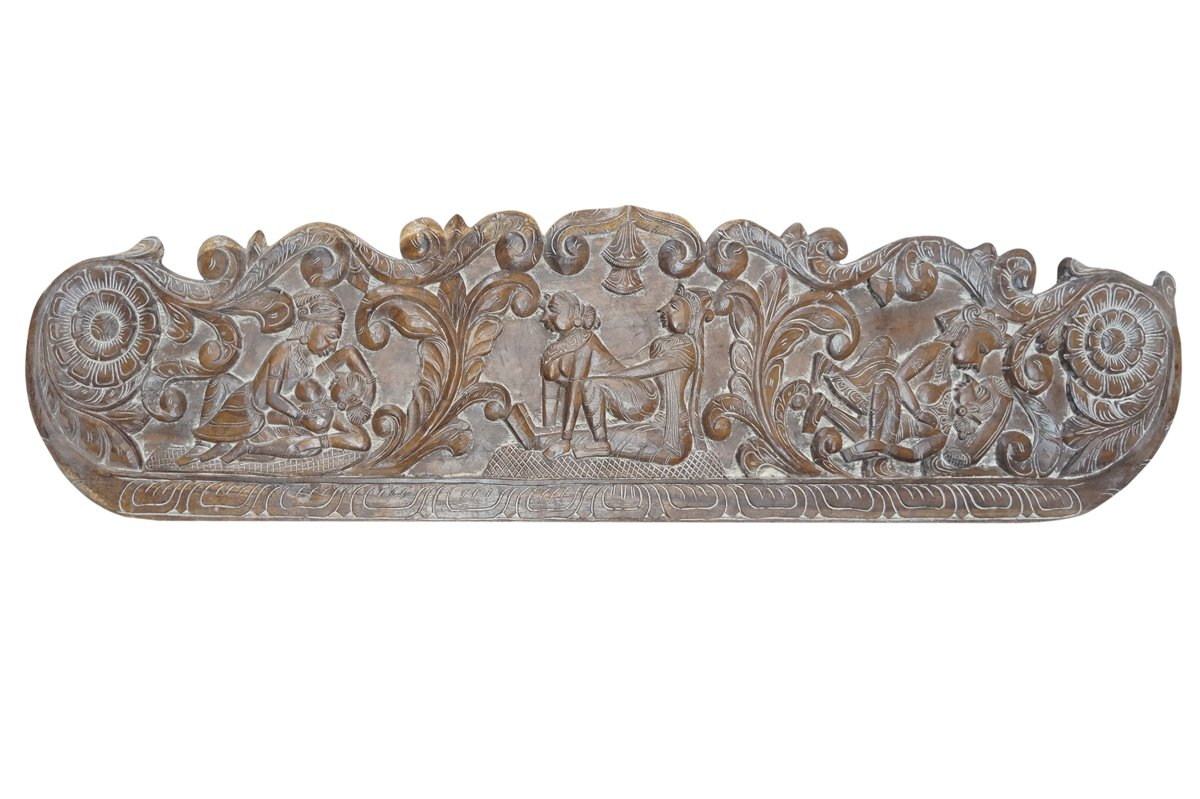 Vintage Carving Headboard Handcarved Kamasutra Love Hymn To Joy Of Life Interior Design by Mogul Interior (Image #1)