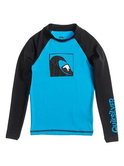 02df68de75 Amazon.com: Quiksilver Boys Main Peak - Long Sleeve Rash Vest Rashguard  Blue 2: Clothing