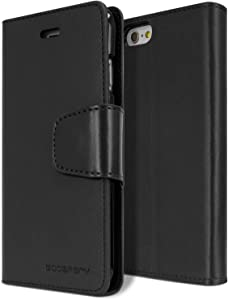 Goospery Sonata Wallet for Apple iPhone 6S Plus Case (2015) iPhone 6 Plus Case (2014) Leather Stand Flip Cover (Black) IP6P-SON-BLK