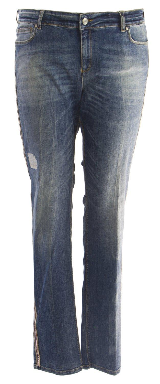 Marina Rinaldi Women's Iglesias Slim Jeans, Light Wash, 12W/21