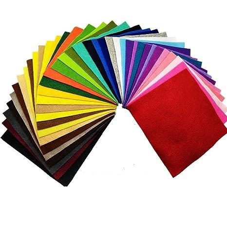 28 Hojas de Fieltro No Tejido Tela Fieltro Suave de Acrílico para Manualidades Patchwork Costura DIY Craft Trabajo 15*15cm Espesor 1,4mm Colores ...