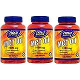 【3個セット】MCTオイル(中鎖脂肪酸/中鎖トリグリセリド) 1000mg 150粒 [海外直送品]